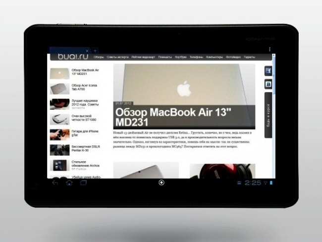 Обзор Acer Iconia Tab A510